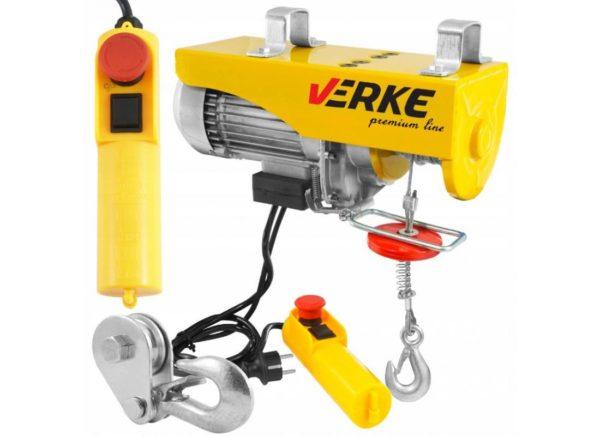 Verke V06052 elektromos csörlő 1300 W / 400/800 kg / 6/12 m V06052