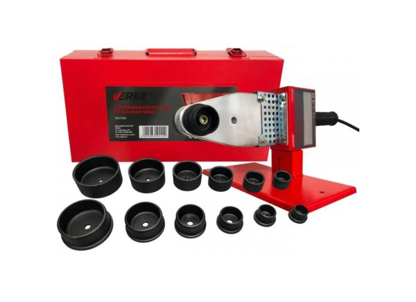 Verke V07500 csőhegesztőgép műanyag csőhöz 800 W / 20-63 mm V07500