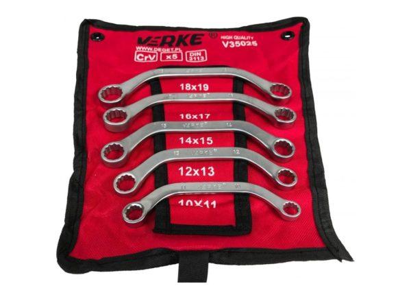 Verke V35025 5 részes öníndító kulcs készlet banán kulcs 10-19 mm V35025