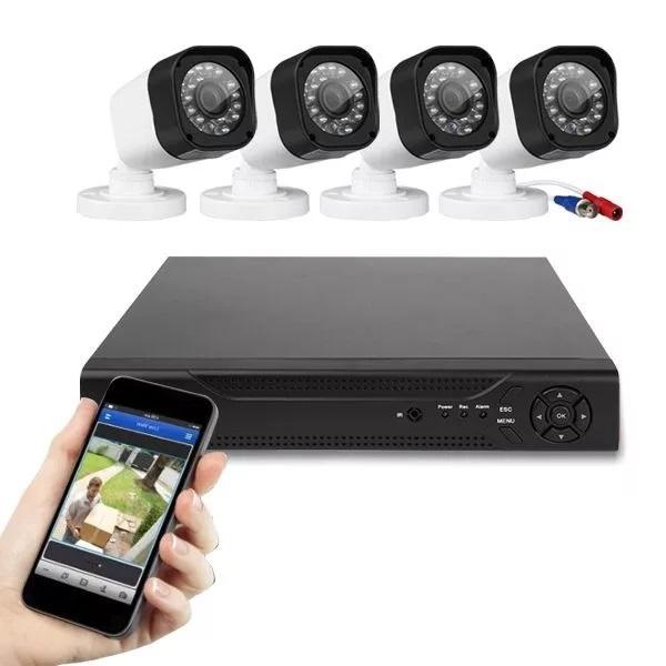 CCTV HD biztonsági kamera megfigyelő rendszer 4db kamerával E-CH-7004-4
