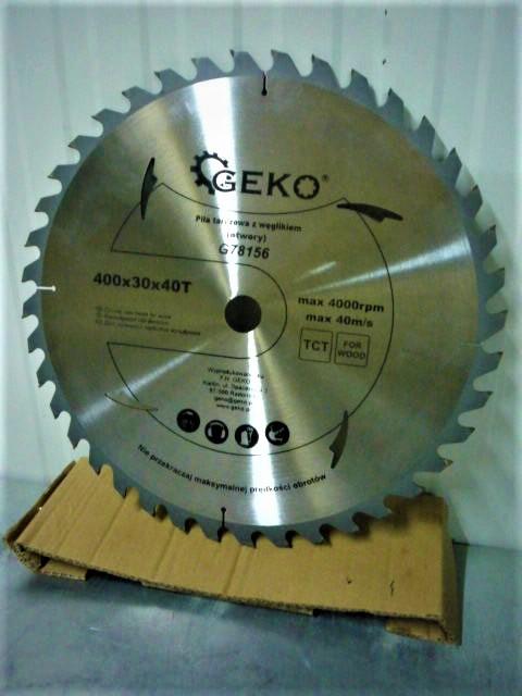 GEKO vídia betétes körfűrészlap fához zajcsillapítással 400x30x40T G78156DS