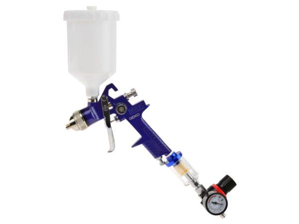 Geko festékszóró pisztoly vízleválasztóval és nyomásszabályzóval G03151