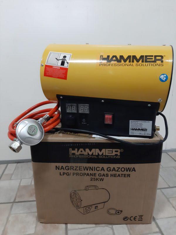 Hammer PB gázüzemű hőlégbefúvó hőlégfúvó hősugárzó 25 kW egyszer használt LCD-GH-15MH