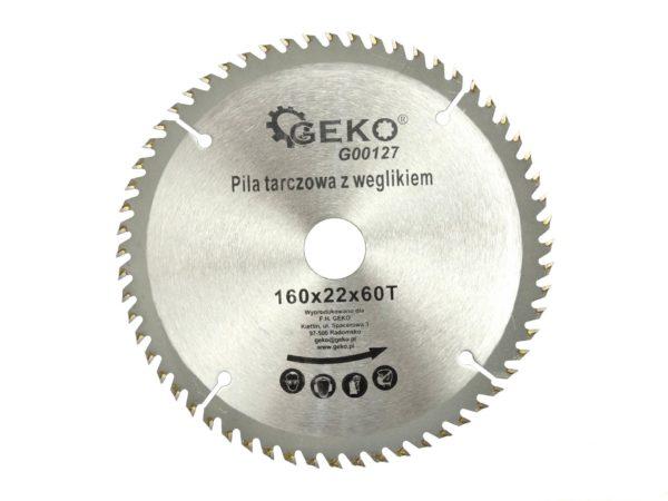Geko körfűrészlap körfűrész tárcsa vídiás 160×22 mm 60 fog G00127