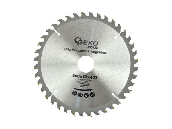 Geko körfűrészlap körfűrész tárcsa vídiás 200×32 mm 40 fog G00136
