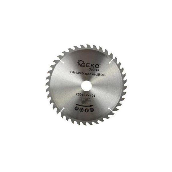 Geko körfűrészlap körfűrész tárcsa vídiás 250×32 mm 40 fog G00145