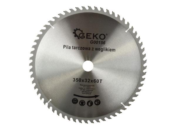 Geko körfűrészlap körfűrész tárcsa vídiás 350×32 mm 60 fog G00156