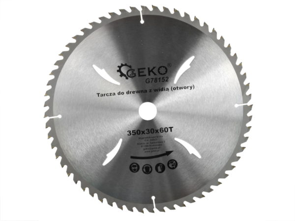 Geko körfűrészlap körfűrész tárcsa vídiás 350×30 mm 60 fog G78152