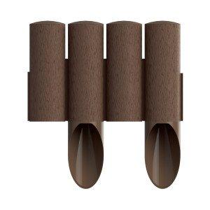 4 elemes PVC szegély barna