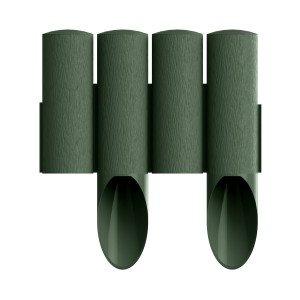 4 elemes PVC szegély zöld
