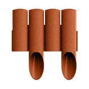 4 elemes PVC szegély tégla vörös