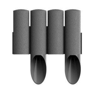4 elemes PVC szegély szürke