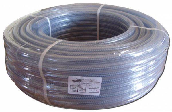 Víztiszta szövött tömlő 10 mm cristalflex CP20/10