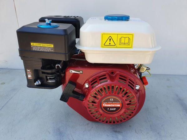 EuroStar benzinmotor benzin üzemű motor 192 cm3 7,5 le + ékszíjtárcsa ES7.5HP-M58