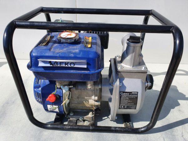 """Geko benzinmotoros vízszivattyú benzines szivattyú 6,5LE 2"""" egyszer használt G81042EH"""