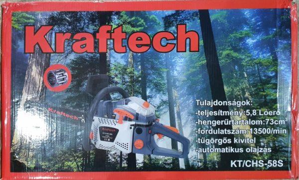 Kraftech benzinmotoros láncfűrész benzines láncfűrész 73cm3 5,8LE KF/CHS-585