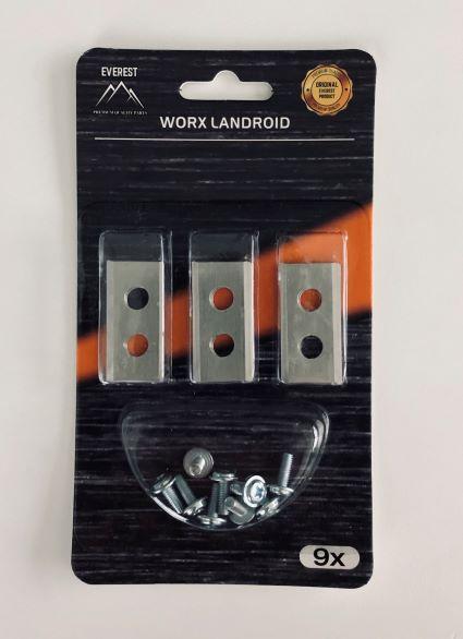 TARTALÉK KÉS ROBOTFŰNYÍRÓHOZ WORX 9 db Worx Landroid WG754E WG790E WG791E 33-99005