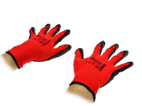 GEKO Védőkesztyű GEKON 10-es piros nitril G73582