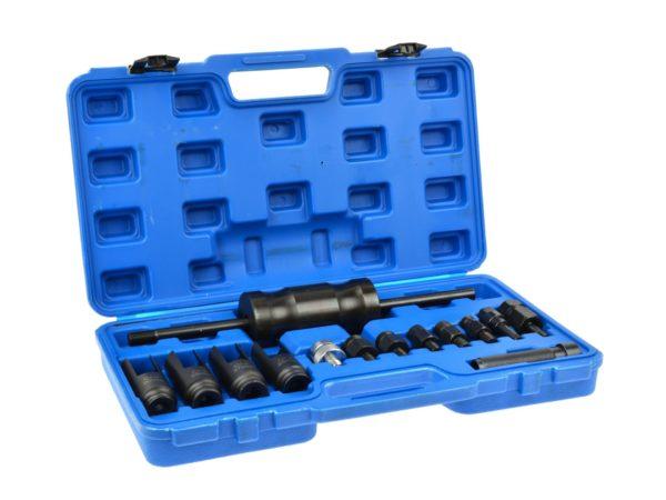 GEKO injektor porlasztó kihúzó porlasztó kiszedő készlet csúszókalapáccsal 14 részes G02651
