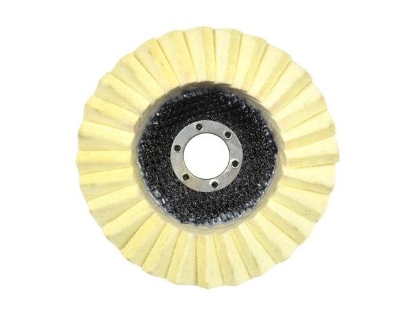 Geko lamellás filc korong polírkorong 125 mm G00386