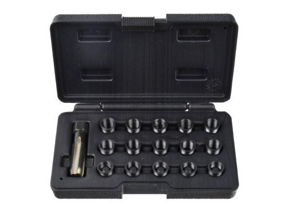 Geko gyújtógyertya menet javító készlet 16 részes menetjavító M14x1,25 G02792
