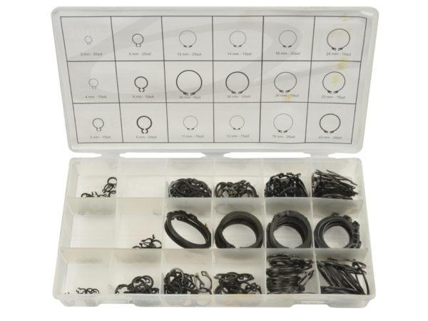 Geko külső seeger gyűrű készlet 300 db-os zéger gyűrű G02802