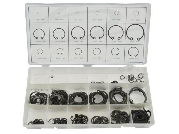 Geko belső seeger gyűrű készlet 300db-os zéger gyűrű G02803