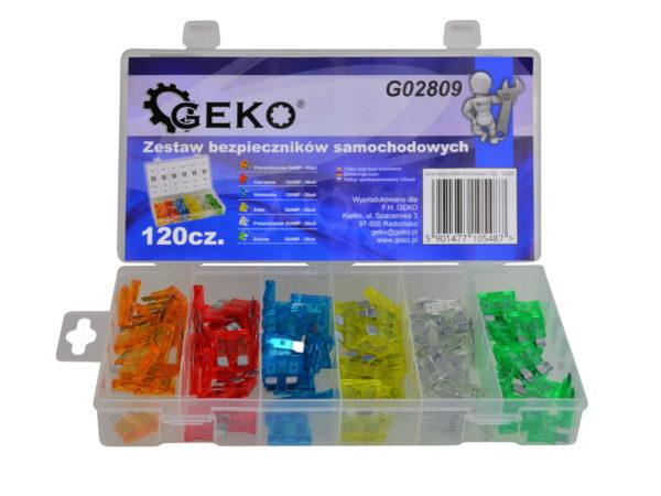 Geko Autós biztosíték 120 db-os készlet G02809