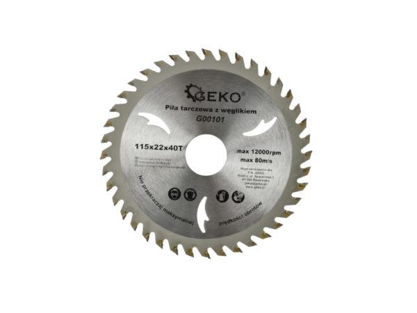 Geko körfűrész tárcsa 115x 22,2x 40T G00101