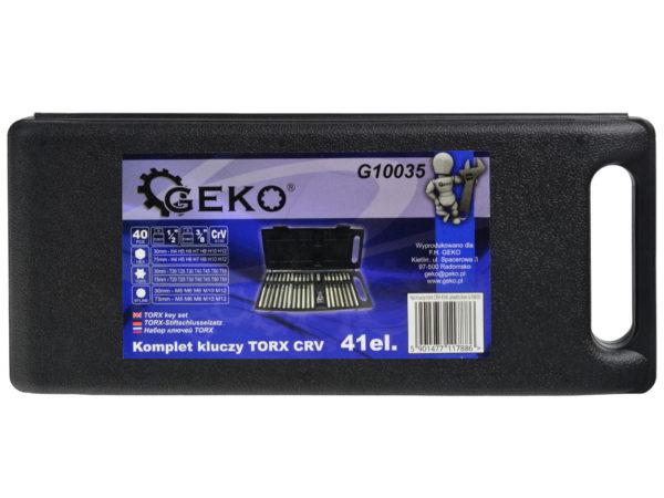 Geko hosszított torx készlet sűrített torx hiáynos 40db G10035DS