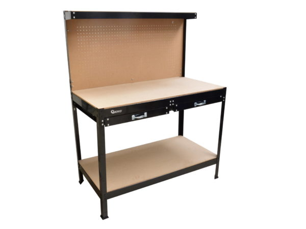 Geko műhely szerszámos asztal szerszámtartó hátfallal G10870