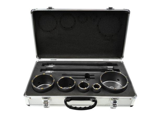 Geko koronafúró készlet 30-100mm SDS Plus SDS+ és MAX G40009