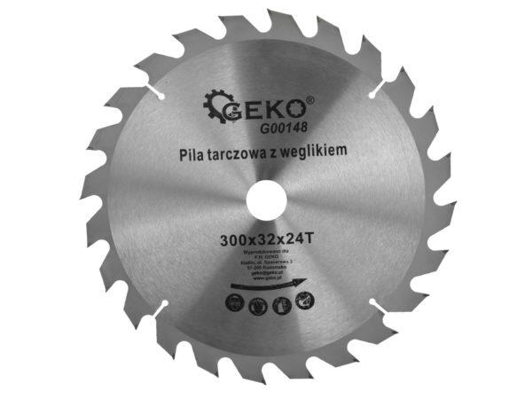 Geko körfűrészlap körfűrész tárcsa vídiás 300×32 mm 24 fog G00148