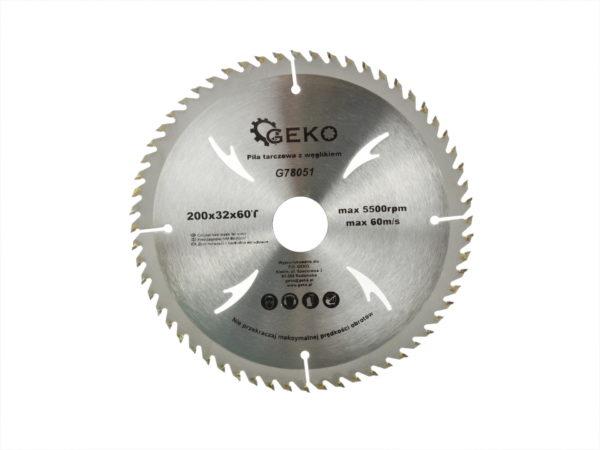 Geko körfűrészlap körfűrész tárcsa vídiás 200×32 mm 60 fog G78051