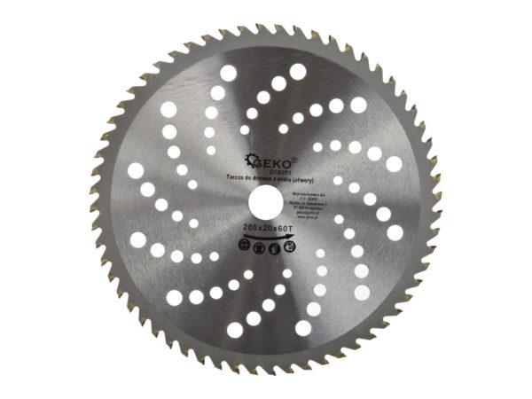 Geko Körfűrészlap körfűrész lap vágótárcsa 205x20x60 G78055