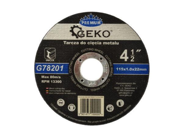 Geko fémvágó korong vágókorong inox saválló 115×1,0x22mm G78201
