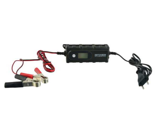Geko akkumulátortöltő 6v 12v 4A akku töltő akkutöltő G80009
