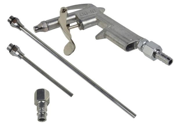 Geko tisztító pisztoly fúvó pisztoly cserélhető végekkel G01163