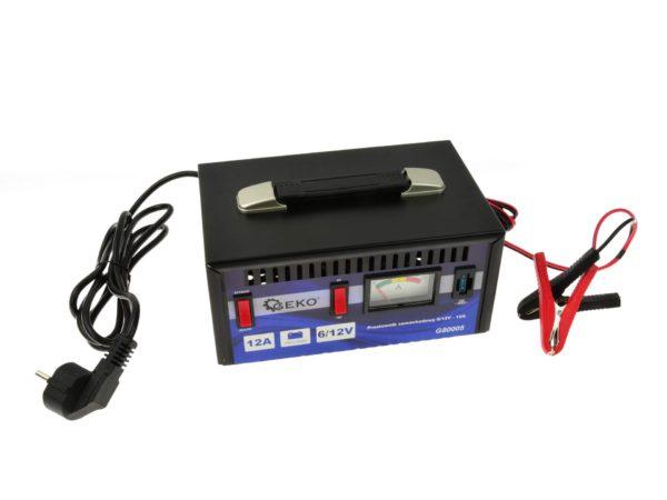 GEKO Akkumulátortöltő akkutöltő akkumulátor töltő 6/12V – 12A G80005
