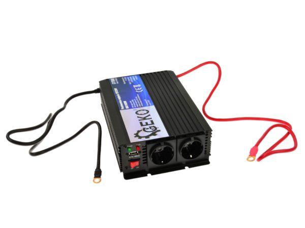 Geko feszültségátalakító inverter 12V/230V 800/1600 W pill. G17006