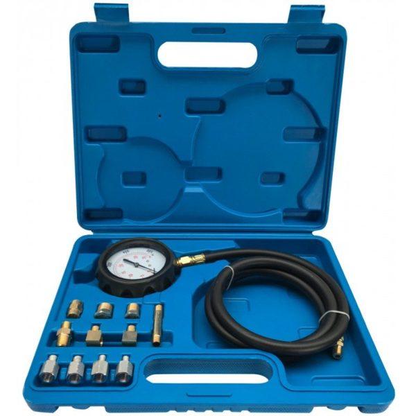 Verke olajnyomásmérő olajnyomás mérő készlet 12db-os 0-35 bar V86250