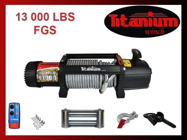 Titanium csörlő emelő 12V 13000 LBS 5,9 t 55602