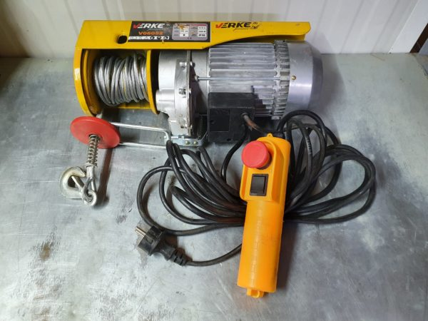 Verke V06052 elektromos csörlő egyszer használt 1300 W / 400/800 kg / 6/12 m V06052EH