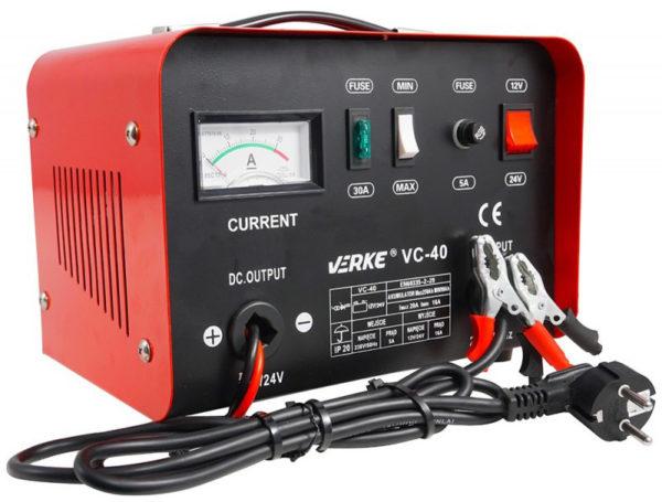 Verke akkumulátortöltő 12/24 V  VC-40 V80003