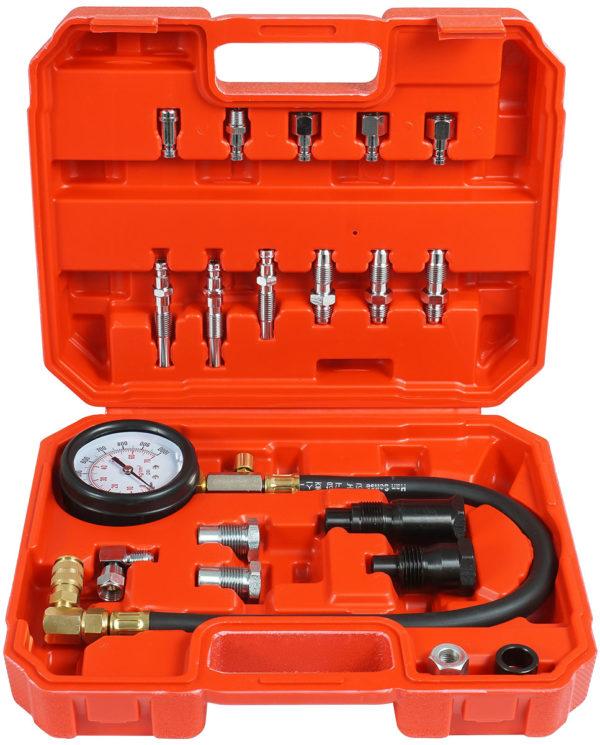 Verke dízel nyomásmérő kompresszió mérő szett 0-70 bar V86257