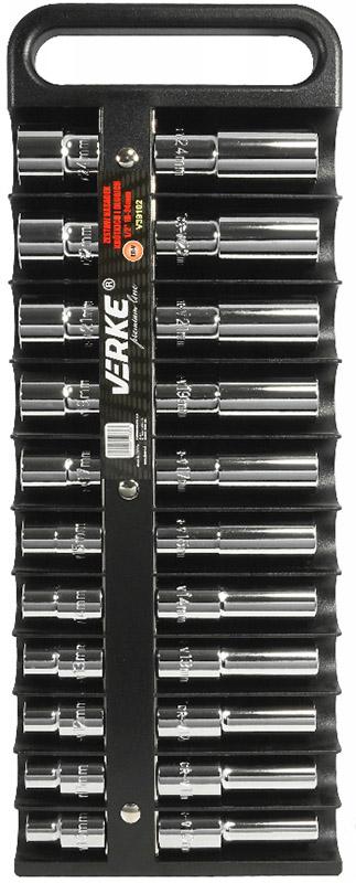 """Verke premium line 22 db-os rövid és hosszú dugókulcs készlet 1/2"""" 10-24mm V39102"""
