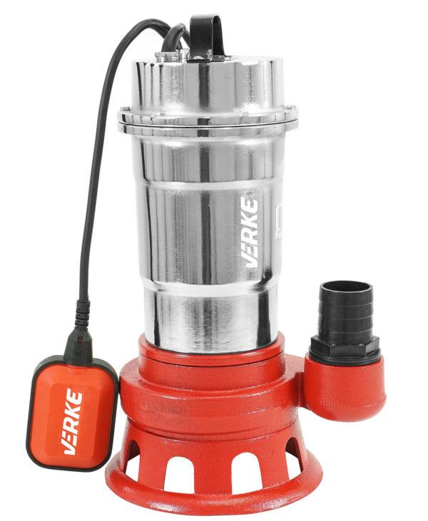 """Verke 2"""" szennyvíz szivattyú szennyvízszivattyú búvárszivattyú úszókapcsolóval nikkel MF-550 V60035"""