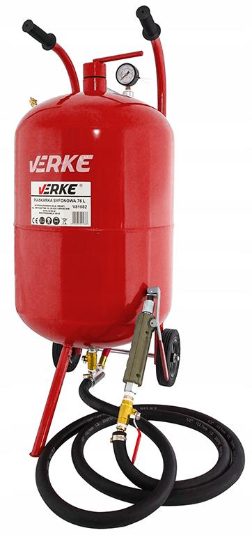 Verke homokfúvó homokszóró gép vörös 76l  V81082