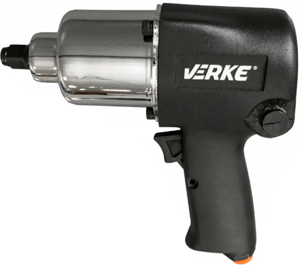 """Verke levegős légkulcs pneumatikus ütvecsavarozó fekete 1/2"""" 750nm 13 db-os fejekkel V81421"""