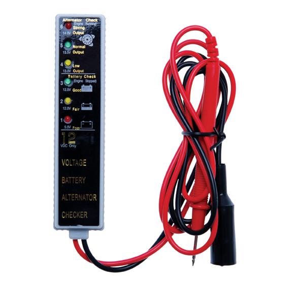 Akkumulátor és töltő ellenörző műszer BGS-2189